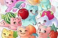 妙蛙种子变身妙蛙水果,国外画师绘制水果版妙蛙种子