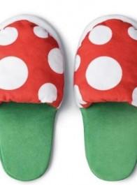 超级玛丽推出食人花拖鞋,外表看起来很普通,装在一块亮了
