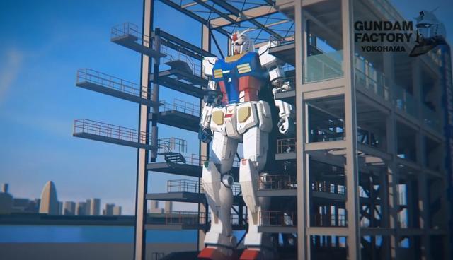 日本那个等身高达要弄好了,官方搞了个上头式,现代版画龙点睛?