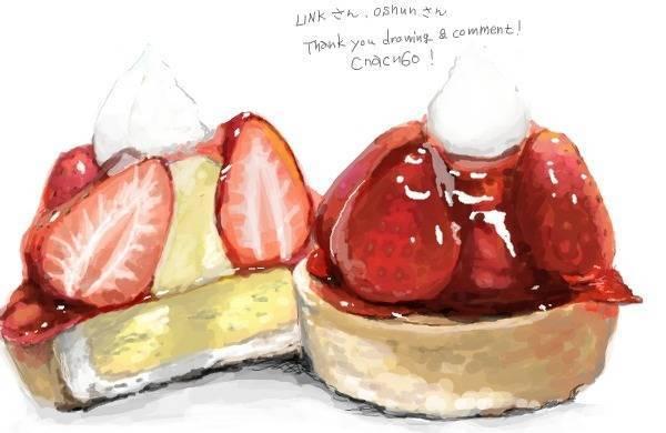 日本插画家笔下的草莓蛋糕,这感觉比真的还好吃啊