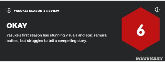 网飞原创动画《武士弥助》第一季IGN 6分:观感不错但剧情拉跨