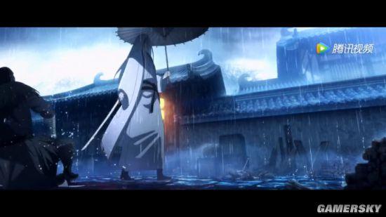 """《镖人》发布动画全新预告:白衣人""""竖""""雨中单手执剑战群雄"""