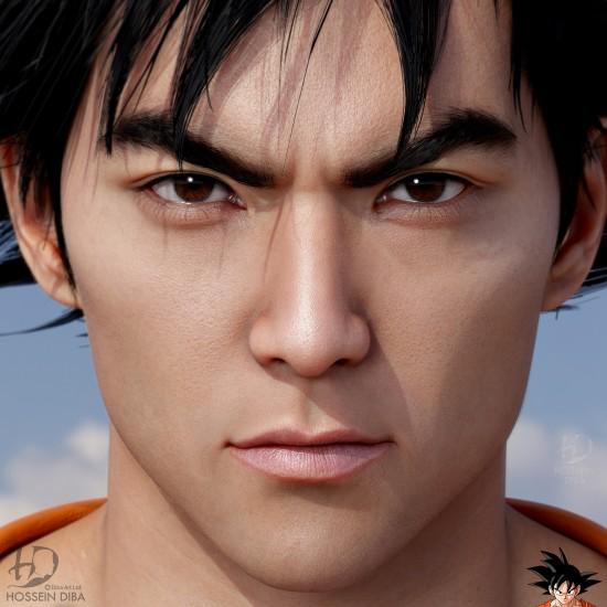 大神创作《龙珠》悟空3D真人形象 相貌俊朗发型还原